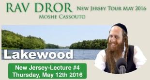 Rav Dror NJ Tour | Lecture #4 | Lakewood, New Jersey