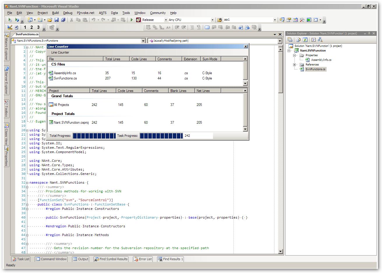 visual studio code count lines of code