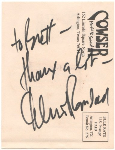 Elliot Randall autograph