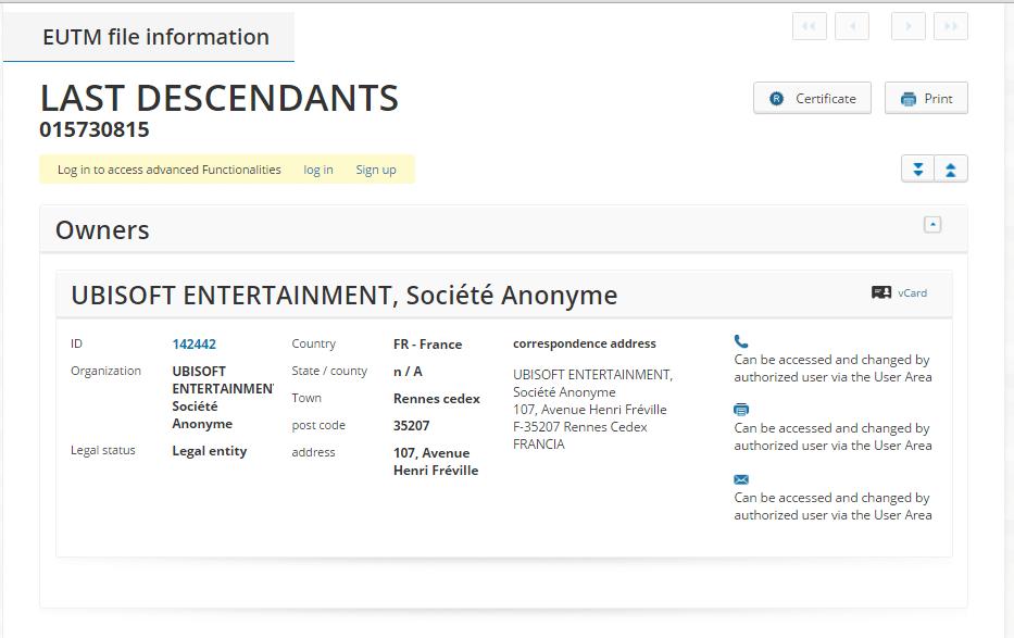 Ubisoft Last Descendants