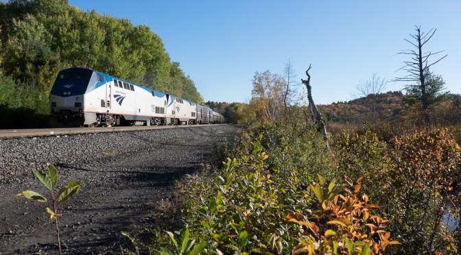 Amtrak 449 Lake Shore Limited at Washington, Massachusetts.