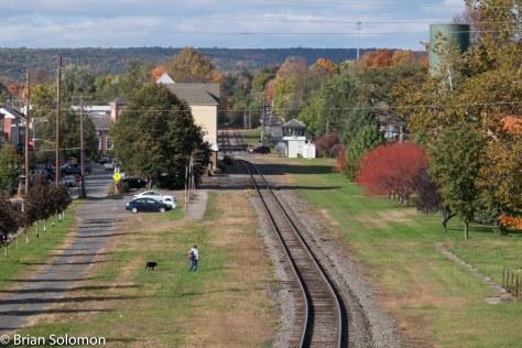 East Stroudsburg, Pennsylvania looking west on the DL&W. FujiFilm X-T1 digital photo.