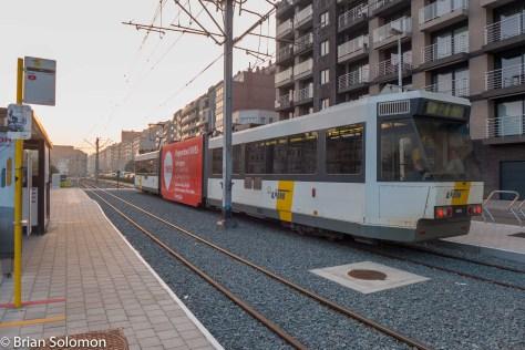 Belgian Coastal Tramway at Blankenberge.
