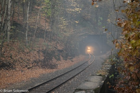 22K approaches the east portal of the tunnel.