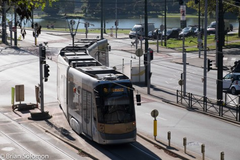 A similar view exposed of a Bombardier Flexity Tram using my FujiFilm X-T1. File carefully adjusted in post processing.