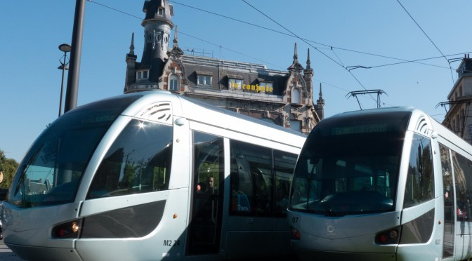 Alstom Trams at Valenciennes, France—1 October 2015