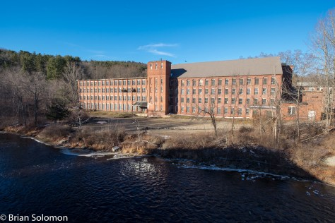 I could make this view of the old Mills at Hardwick any day of the week, and I've been meaning to drive up one of these days to make the most of the light. So as I was walking into position to make my set on the far side of the Ware River at Gilbertville (featured below, I exposed this view with my 12mm Zeiss Touit. The old Boston & Maine line that ran parallel to the B&A Ware River Branch had run behind these mills. The tracks were lifted in the 1930s, although the Hardwick station survives. Mass-Central's present line is behind me.