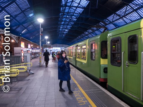 Under the shed at Pearse Station, Dublin.