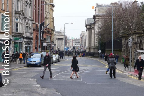 From the foot of Grafton Street looking toward College Green.