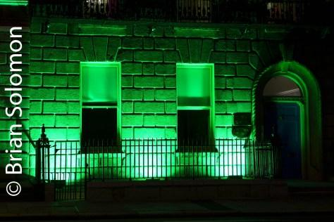 Green light on a Georgian dream. Time exposure with Lumix LX7 mounted on mini Gitzo tripod.