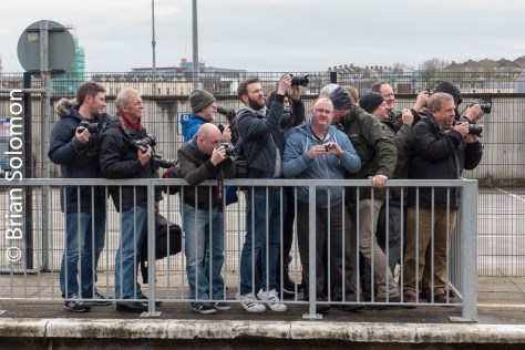 Photographers vying for position at Waterford.