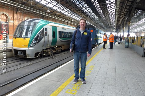 IRRS tour organizer Shane Roberts at Connolly on the morning of the tour.