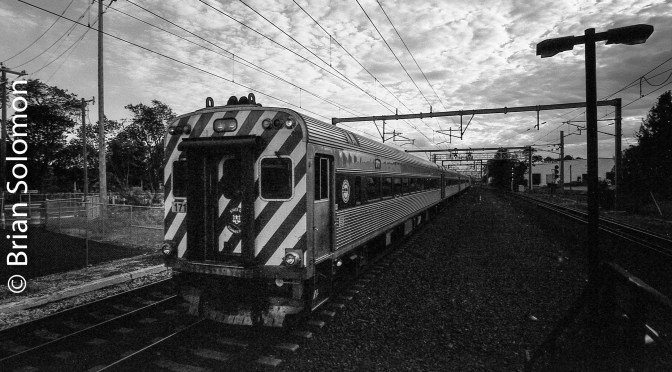 Old School at Old Saybrook or Amtrak's Acela and a Cotton Candy Sky.
