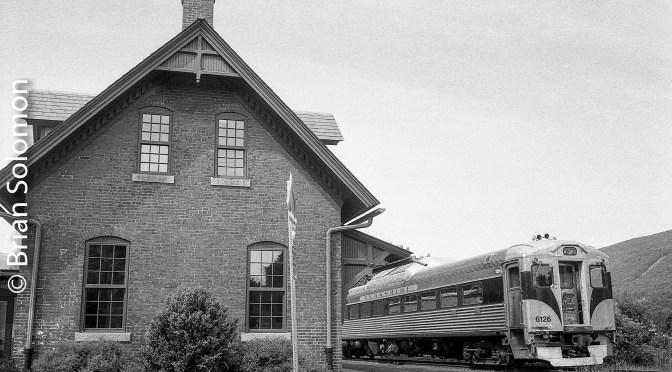Berkshire Scenic RDC at Renfrew, Massachusetts—Real black & white.