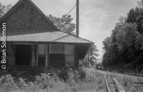 Eagle Bridge, New York, the old Boston & Maine station is a relic of former times.