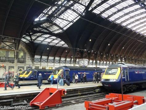 Railway stations.