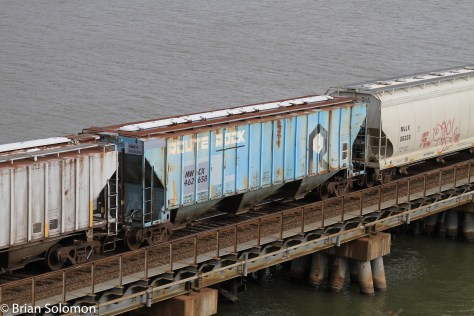Freight cars.