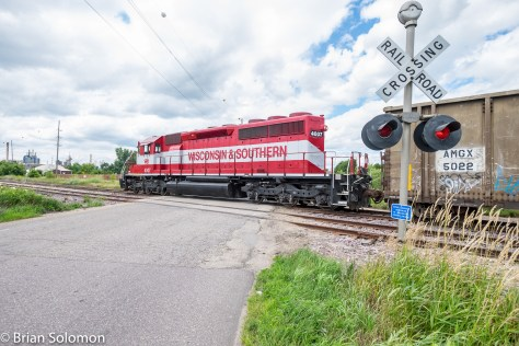 Wisconsin & Southern at Reedsburg, Wisconsin in July 2016. Exposed using a FujiFilm XT1 with 12mm Zeiss Tuoit lens.
