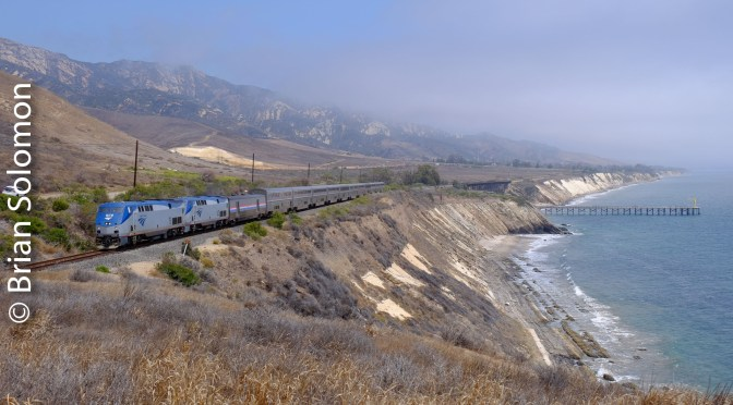 Amtrak's Coast Starlight along the Pacific Coast—August 2016.