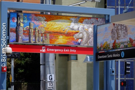 Expo Line station at Santa Monica.