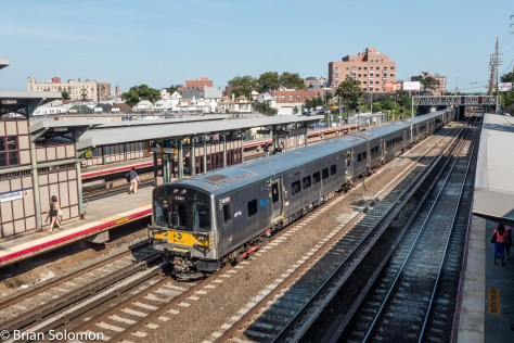 I made this view from the concourse of the Flushing Line station (operated by the NYCTA). Woodside offers a convenient connection between LIRR and NYCTA trains.