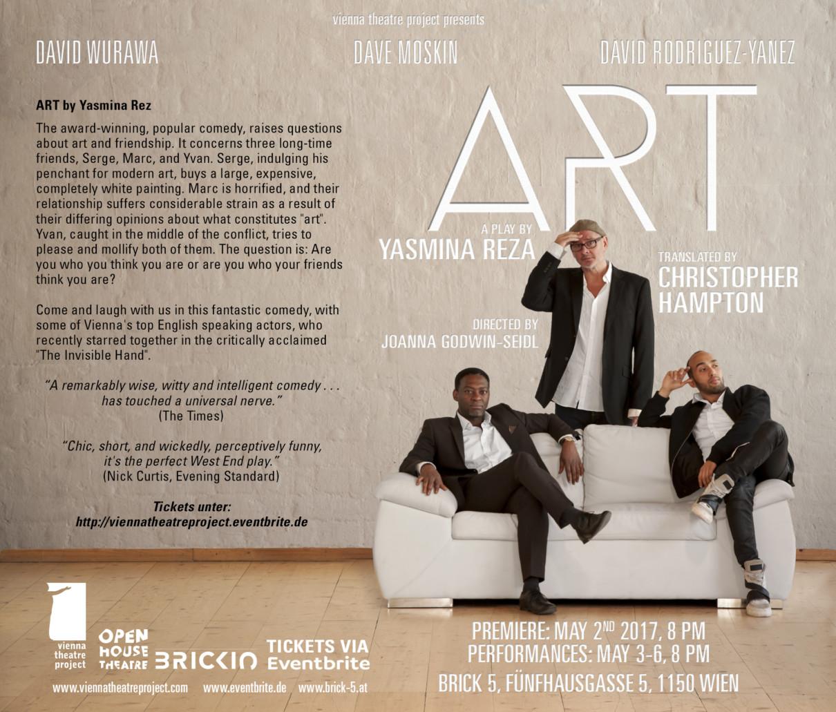 """ART"" by Yasmina Reza -  Vienna theatre project"