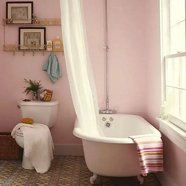 salle de bain rose Choisir la couleur de la salle de bain   21 Idées de couleurs