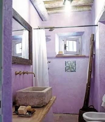 violet salle de bain Choisir la couleur de la salle de bain   21 Idées de couleurs