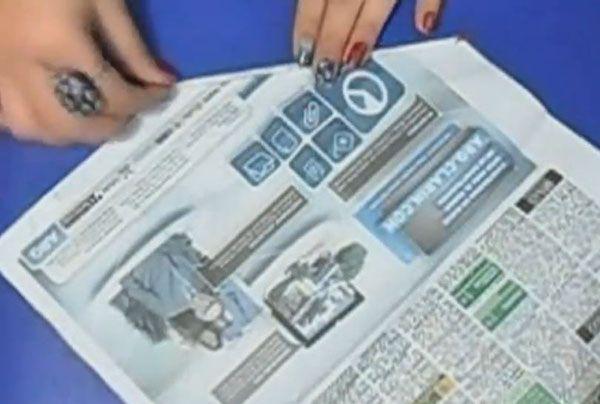 cesta reciclada papel periodico 2
