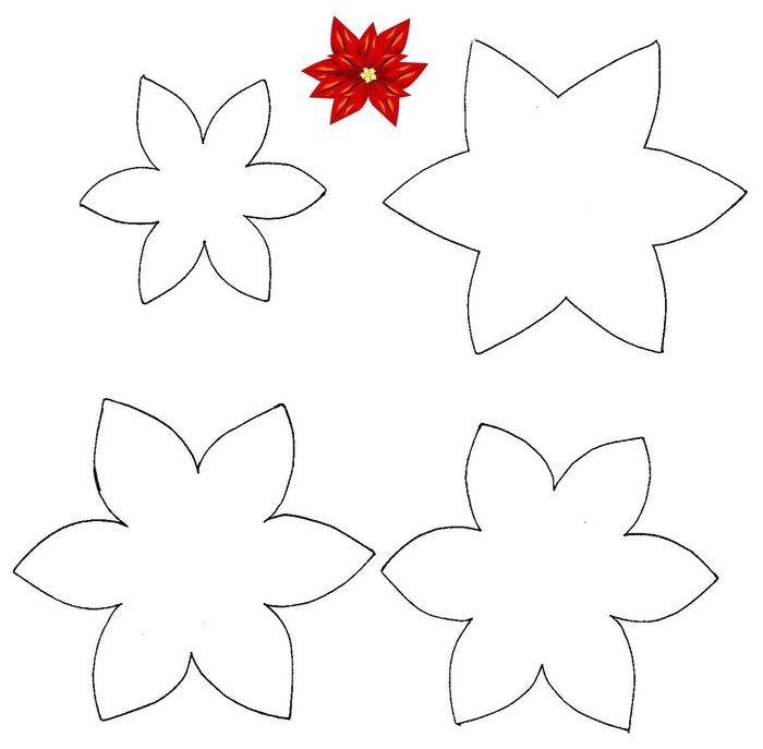 Taller de fieltro desde cero como hacer patrones de flores - Plantillas para manualidades de fieltro navidad ...