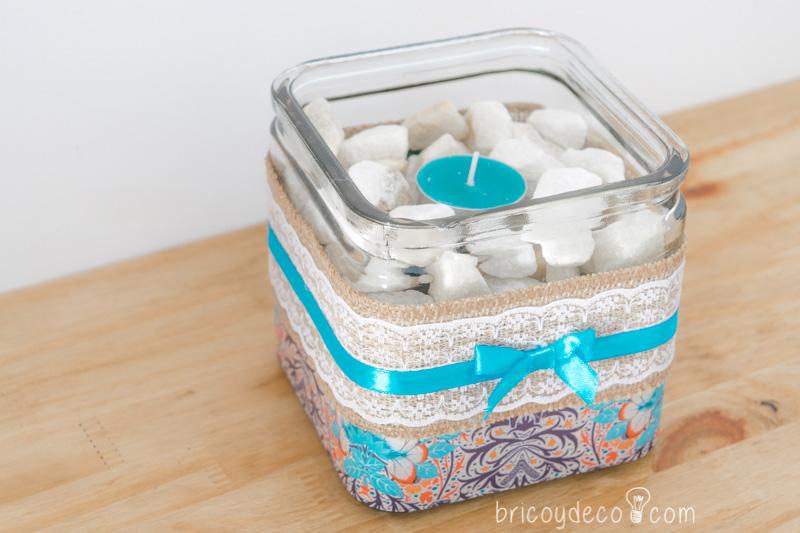 Decorar con decoupage vidrio y madera centro de mesa personalizado handbox craft lovers - Decorar mesa de centro de cristal ...