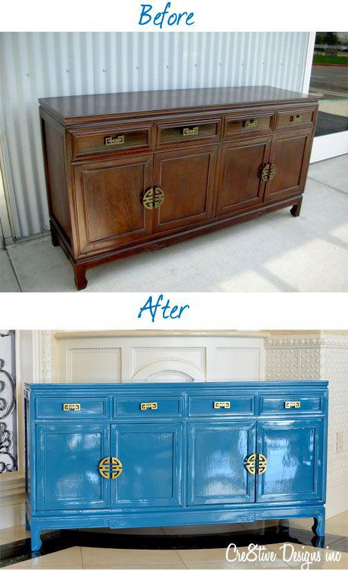 Renovar muebles pintándolos de azul