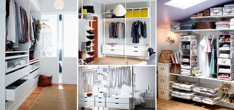 armarios con estantes regulables