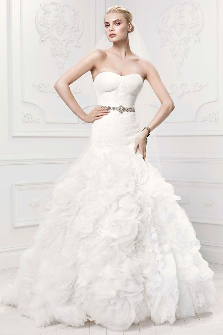 top wedding gowns trending wedding dresses zac posen for davids bridal wedding gown style zp
