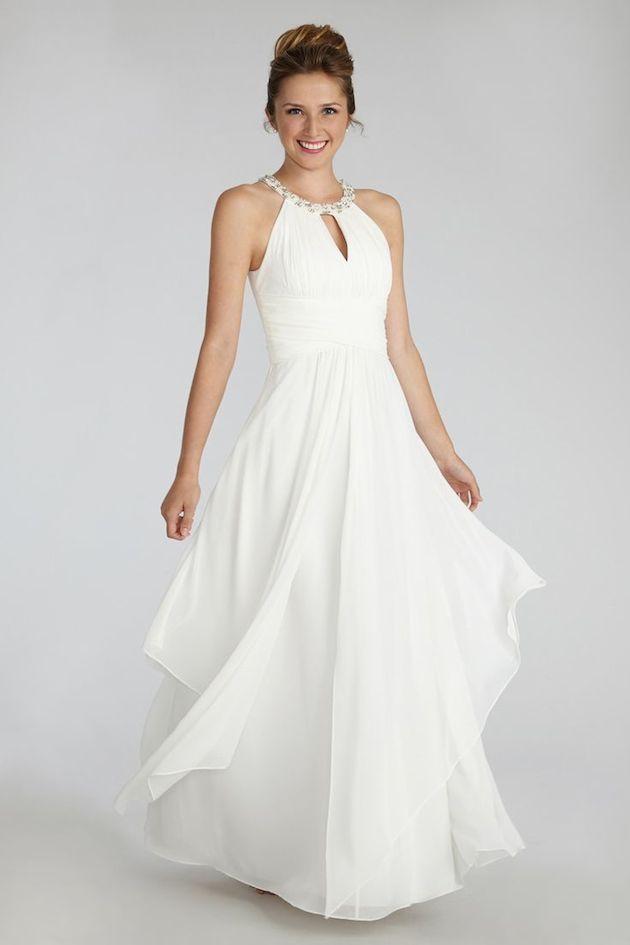 20 gorgeous wedding dresses for less than 1 000 crazyforus for Donna morgan wedding dresses