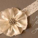 Tips and Trends: How To Make A D.I.Y. Fabric Flower Garter