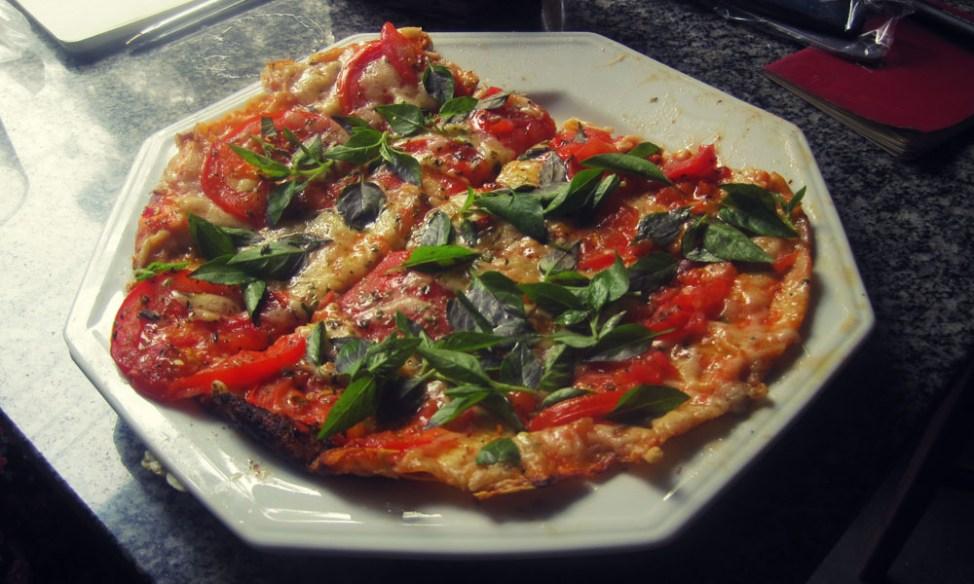 Vegetarian pizza in Rio de Janeiro