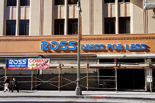 New permanent signs for Ross were installed this week