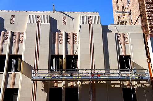 The new Ross contributes to the revitalization of Broadway with a full cleaning and restoration of the beautiful Art Deco 1920 Woolworth Building