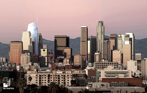 The Wilshire Grand Tower will be a dramatic addition to the growing Downtown LA skyline (Photo: AC Martin)