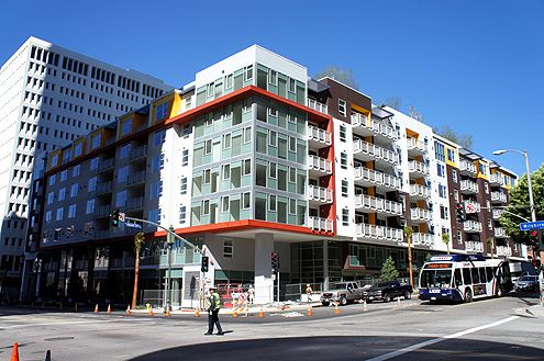 The new 210-unit Eleven Eleven Wilshire in City West has completed construction and expects the first residents to move in next month