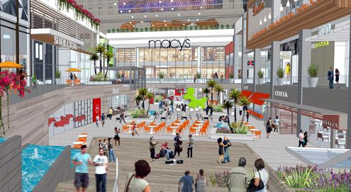 New renderings were released today showing a completely transformed retail center for the complex once known as Macy's Plaza (Photo: The Bloc Downtown)