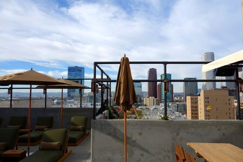 Rooftop views of Downtown LA