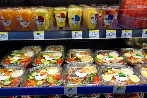 And fresh salads and fruits