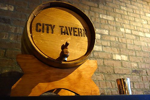 City Tavern beer barrel