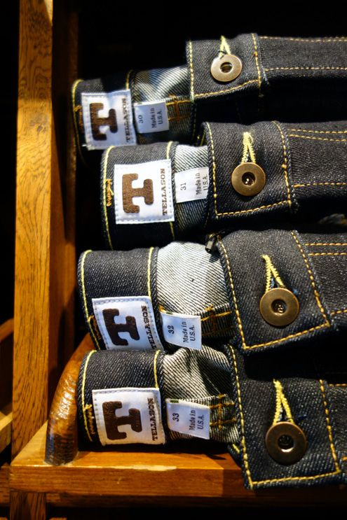 Tanner Goods carries Tellason denim