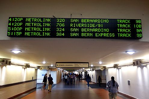 Metrolink will also change out their bland schedule board for newly designed electronic ones as part of the new wayfinding sign program