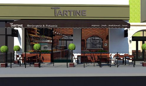 (Click to enlarge) Tartine is a new French bakery coming to the PacMutual building as this rendering shows outdoor dining across from Pershing Square (Photo: bB|A Studios)