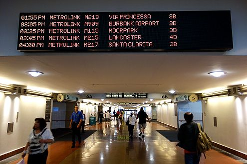 New digital Metrolink schedule screens are installed throughout the concourse for easy spotting