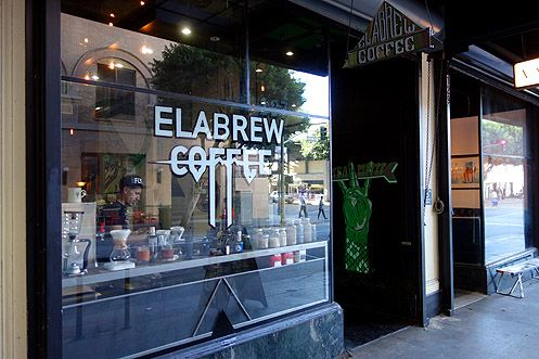 Elabrew Coffee from Santa Monica has opened their second location in Downtown LA near 6th/Los Angeles St